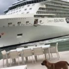 Cruise ship almost crashes into a beach-facing home, couple get the shock of their lives
