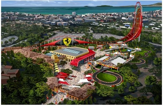 Ferrari Land theme park in Spain will have Europe's tallest and fastest roller coaster