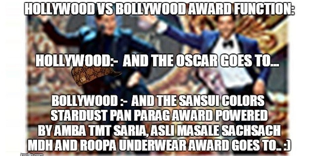 hollywood vs bollywood award functions