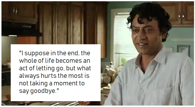 Irrfan khan's 'letting go' dialogue in Life of Pi
