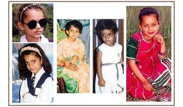 Kangana Ranaut childhood photos