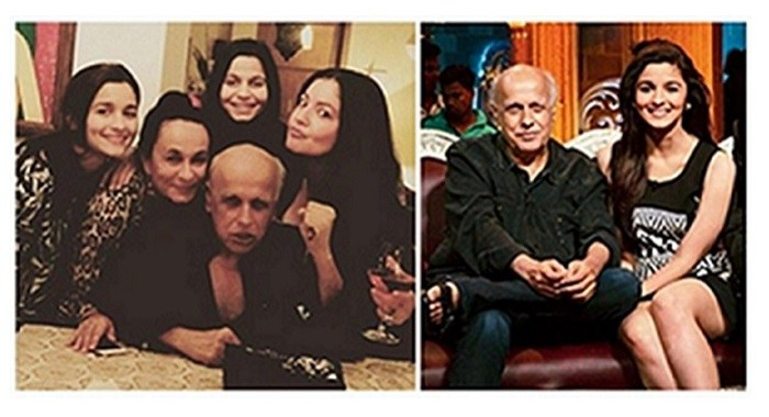 Mahesh Bhatt and family