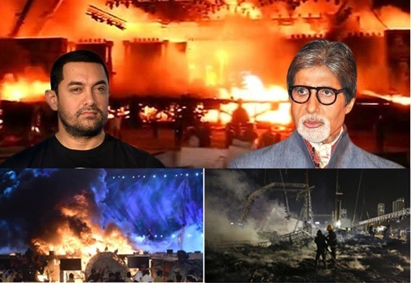 fire at 'make in india' bollywood event