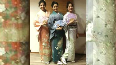 Sridevi and her daughters jhanvi & khushi don the kimono