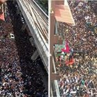 Check the crowd that had gathered to see this celebrity (its not Shahrukh)