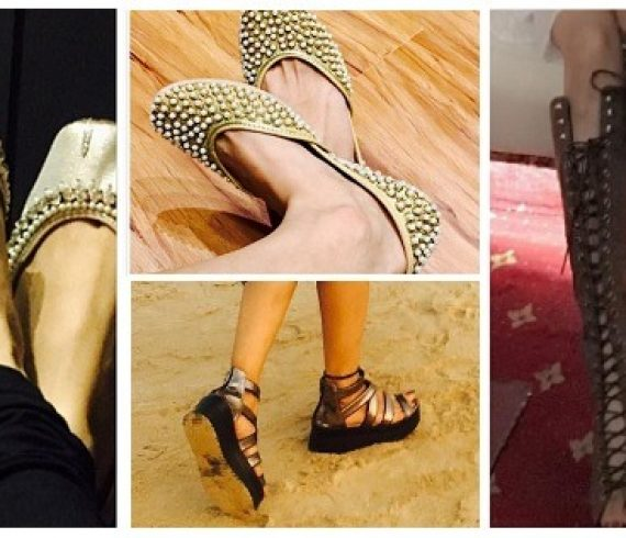 tv actresses footwear